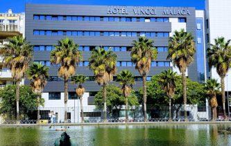 Hotel Vincci Malaga 5 km from Malaga airport.